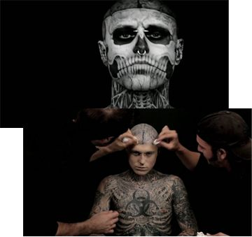 110 best zombie boy images on pinterest rick genest boy for Dermablend tattoo cover up video