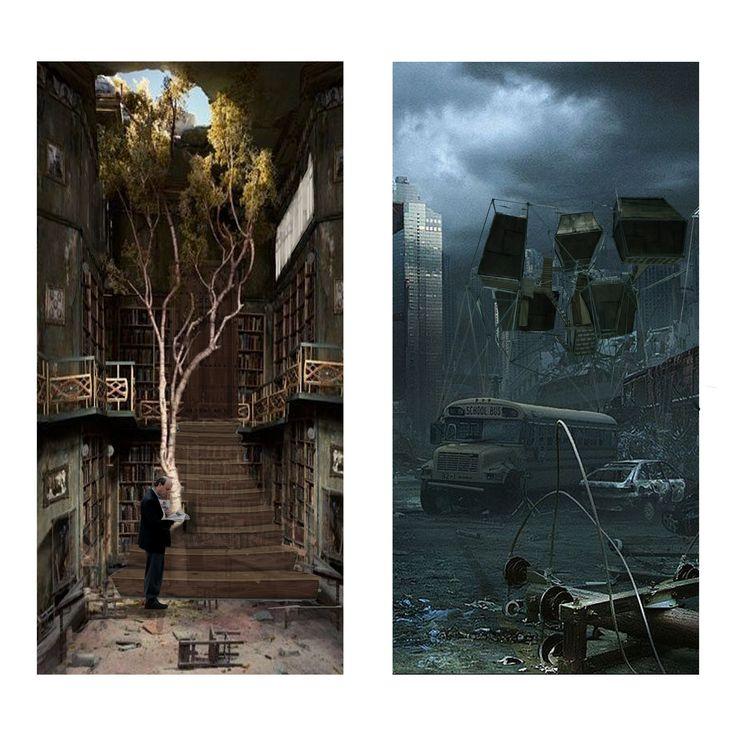 fotomontaje, reinterpretacion del castillo ambulante / Howl no Ugoku Shiro/ Studios Ghibli (camiconcas /arq_cfcc)