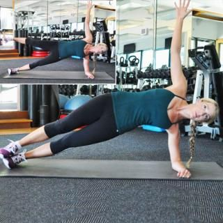 Side Plank with Leg Lift - HIIT Abs Workout: Burn Belly Fat in 10 Minutes - Shape Magazine