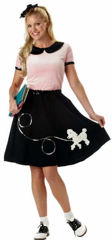 Adult 50's Sock Hop Costume - Candy Apple Costumes