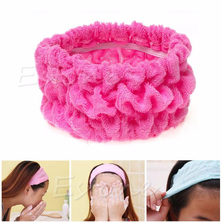 1pc Soft Elastic Headband Bath Spa Make Up Shower Hair Band Headwrap Holder Hot