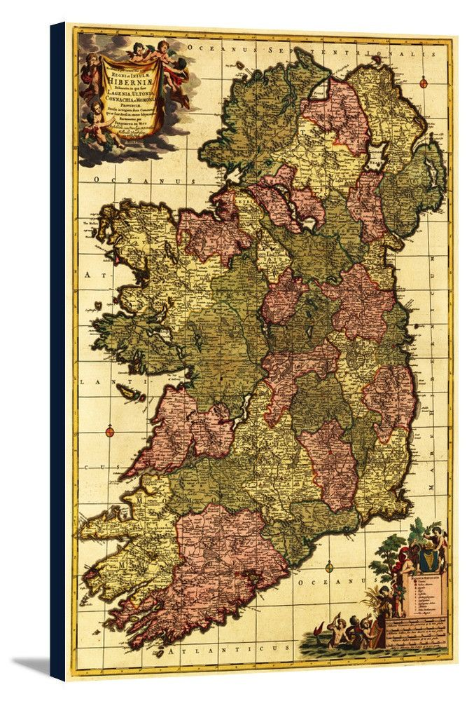 Map Of Spain Portugal%0A Ireland          Panoramic Map