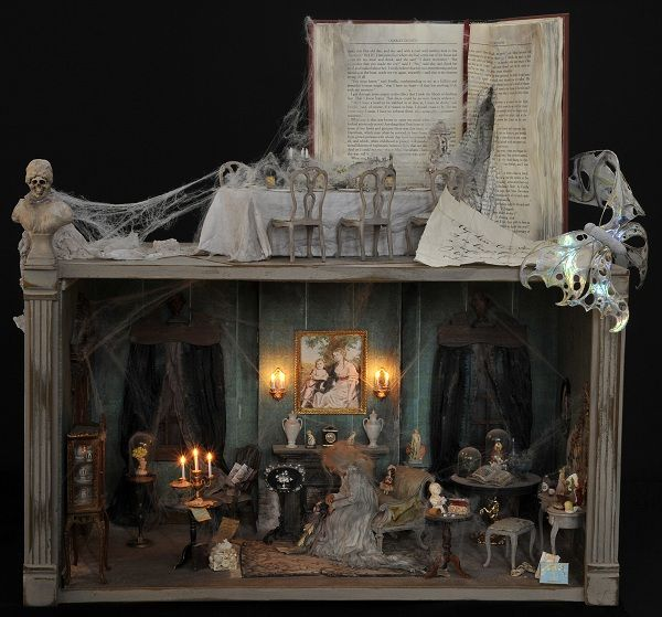 i love this idea for other books jane austen all the way halloween dioramahalloween miniatureshaunted dollhousegreat - Halloween Diorama Ideas