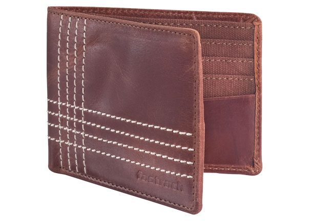 Leather Bi-fold wallet with contrast stitch and internal card slots. Wallets from Fastrack http://www.fastrack.in/product/c0309lbr01/?filter=yes=india=9=4&_=1334231927426