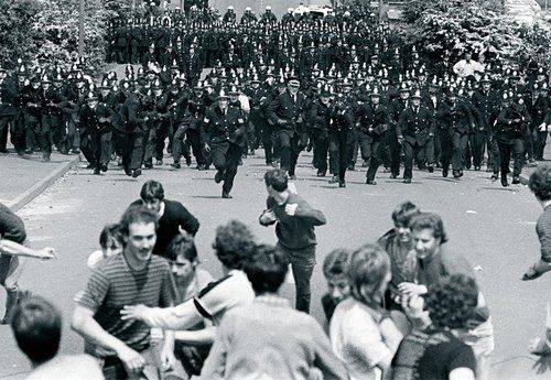 © John Sturrock, May 1984, Miners Strike 1984/85 - Police charge pickets at Orgreave coke works, near Sheffield. ----- The UK miners' strike of 1984–85 was a major industrial action affecting the British coal industry. It was a defining moment in British industrial relations, and its defeat significantly weakened the British trade union movement. It was also seen as a major political victory for Margaret Thatcher and the Conservative Party. (read more on my blog)