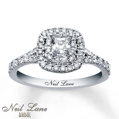 Neil Lane Engagement Ring 1 ct tw Diamonds 14K White Gold This is my dream ring!!