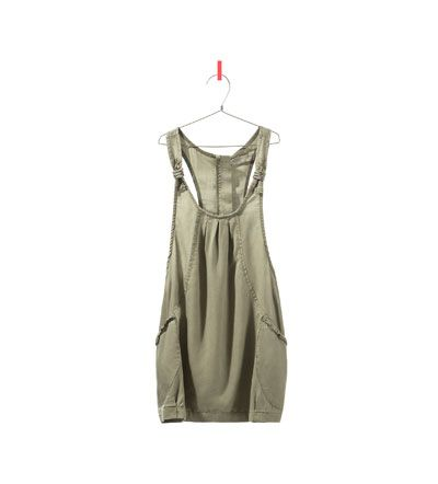 PINAFORE DRESS WITH COLOURED RIBBON DETAIL from Zara