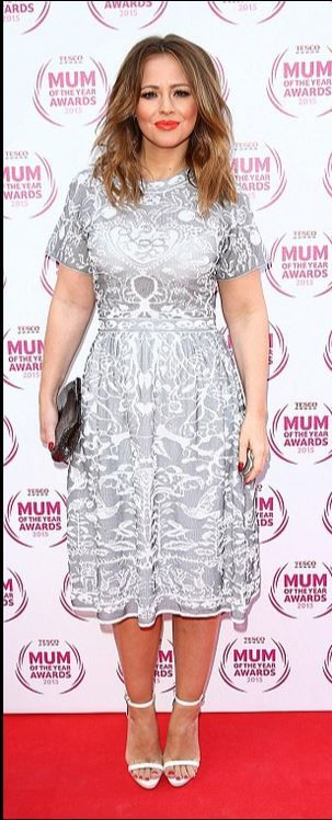 "#MMissoni #Summer15 #Dress || Kimberly Walsh at ""Tesco Mum Of The Year Awards"" looking faboulous in our lace inspired jacquard dress 