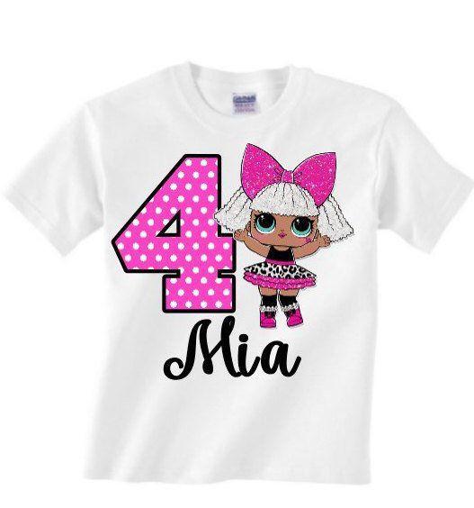 Diva birthday shirt – lol surprise birthday shirt – lol surprise birthday outfit… – J'Adore Tutu Chic