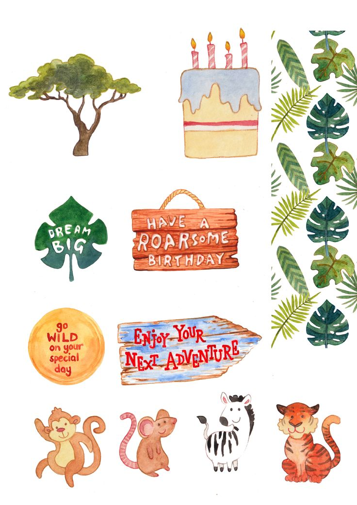 Download our FREE safari printables from Papercraft