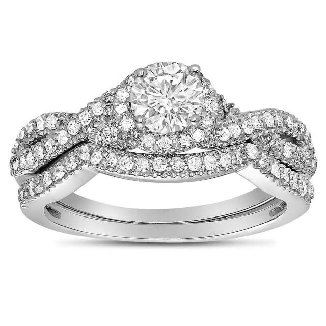 Infinity Wedding Ring Sets 3