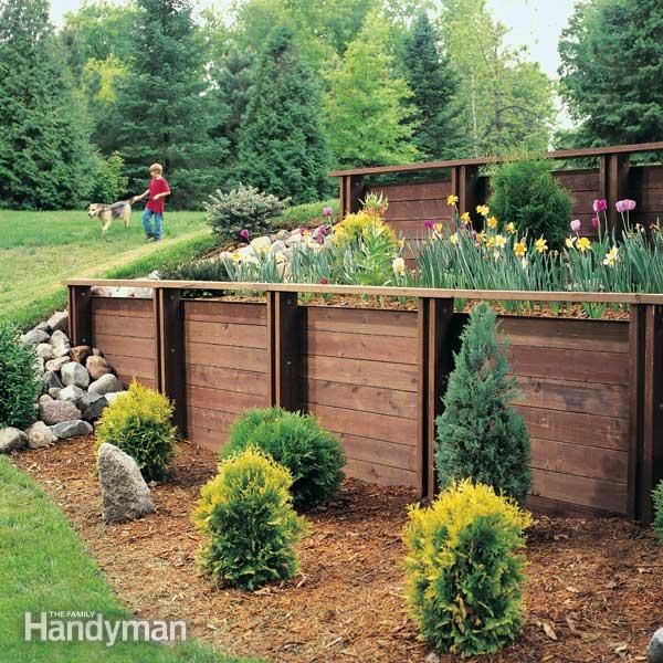 Landscaping Ideas Garden Walls: 1000+ Images About Building A Retaining Wall And