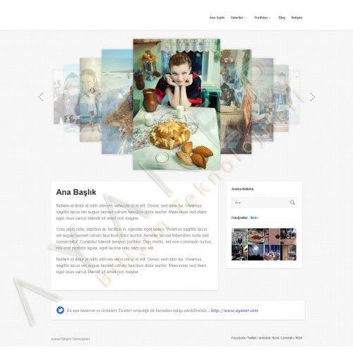 """Tasarım , imaj , fotoğraf arşivi paylaşmak isteyen kişi veya kurumların temel düzeydeki web lansman ihtiyaçlarını karşılamaya yönelik """" Portfolyo Temalı Jenerik Web Sitesi"""" Tasarımı."""
