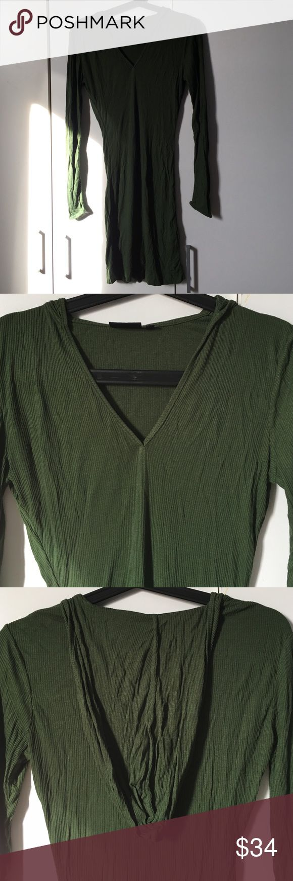 Kate Spate Saturday Hooded Jersey Dress in Olive Kate Spate Saturday Hooded Jersey Dress in Olive. Like new! kate spade Tops Tunics