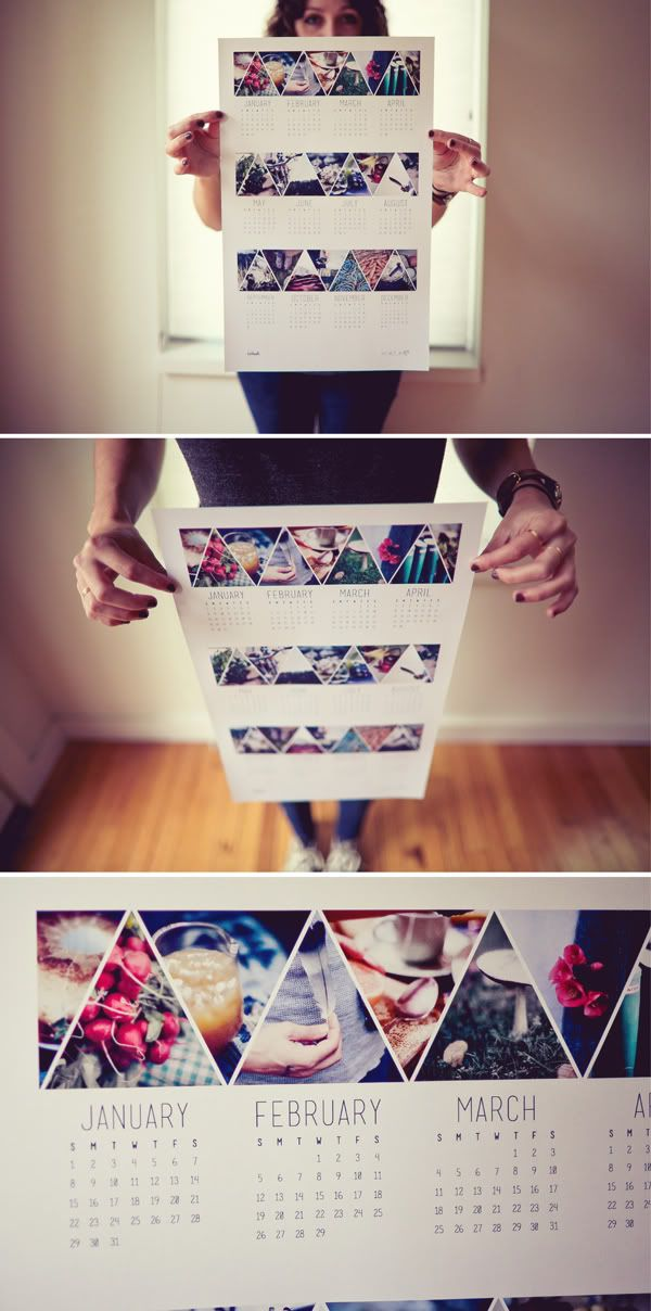 calendar - would love to make this with family photos! Wonder if I can DIY this?