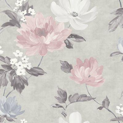 Renoir Blush & Grey Wallpaper
