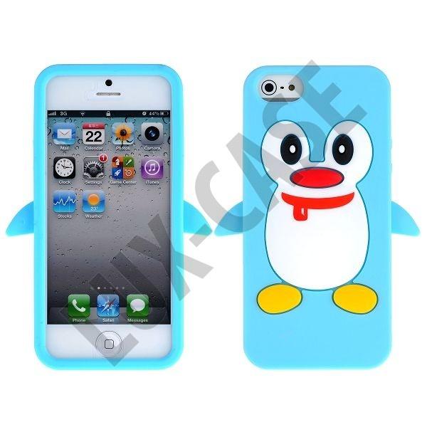 Happy Penguin (Lys Blå) iPhone 5 Cover.  149,00 kr  http://lux-case.dk/happy-penguin-lys-bla-iphone-5-cover.html
