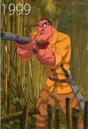 Most chilling Disney Villain demise (Animated Feature Challenge, Day # 14): When Clayton accidentally hangs himself in the jungle vines