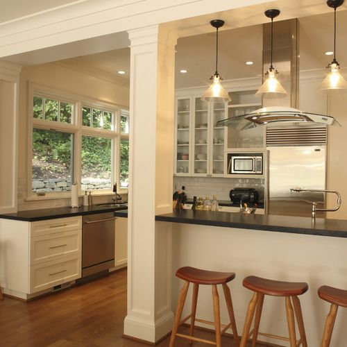 Island With Support Beam Home Design Ideas, Pictures, Remodel and Decor