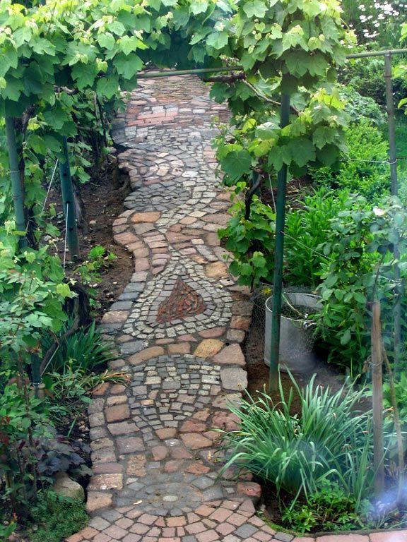 Die besten 25+ Gartenweg Ideen auf Pinterest Garten wege - gartenwege anlegen kies