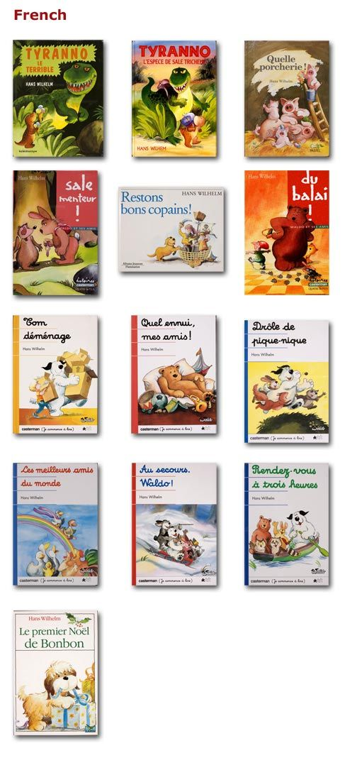 "French children's books for the smartboard -- though some difficult vocabulary and passé simple. ""Rendez-vous à trois heures"" could work for household chores..."