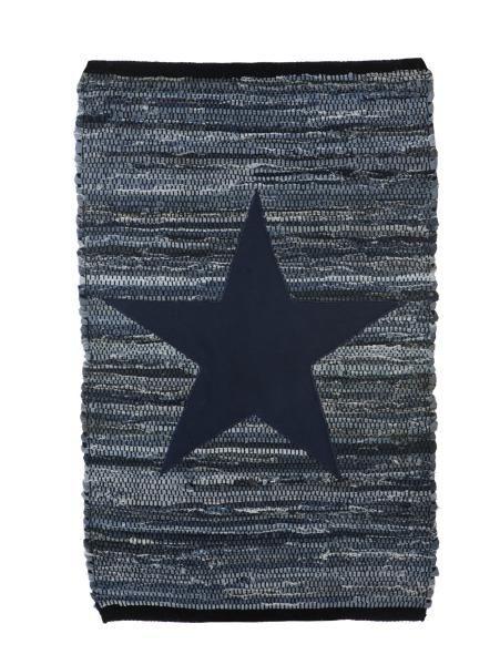 Tøff blå rye med stjerne på.