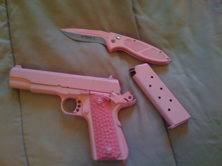 Pink knife and pink 1911! Find our speedloader now! http://www.amazon.com/shops/raeind