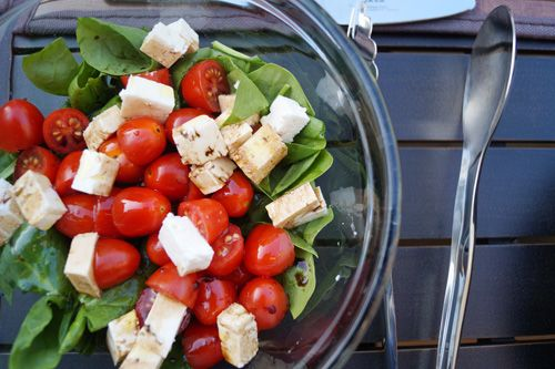 spinach and tomato salad Recipe