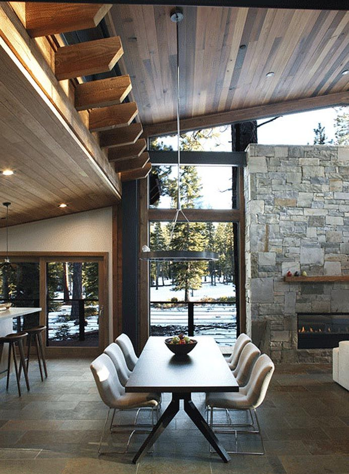 If Its Hip Here Marvelous Modern Mountain Home In Truckee California Is
