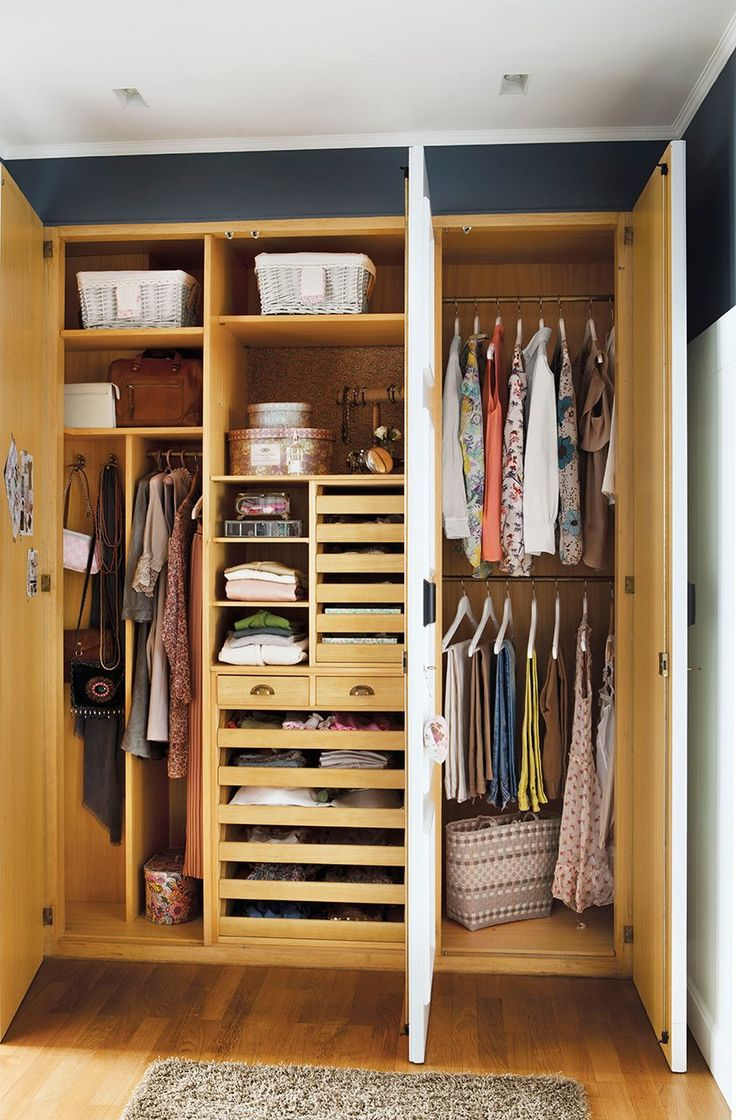 100 best images about armario on pinterest wardrobes closet designs and full length dresses - Como organizar un armario empotrado pequeno ...