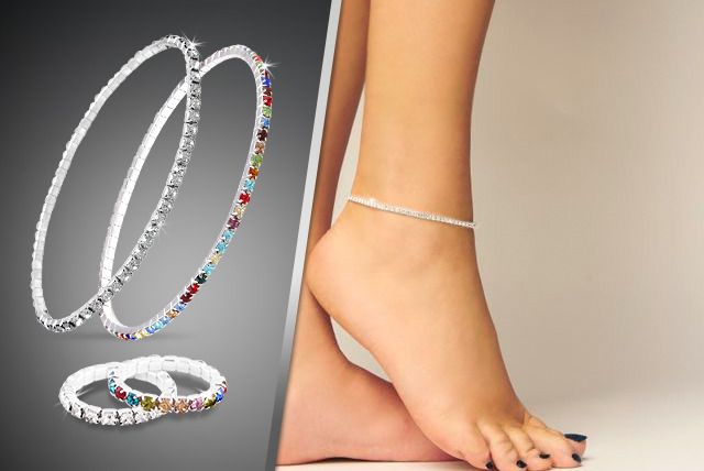 Crystal Anklet and Toe Ring