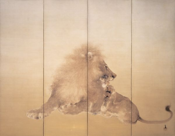 獅子 - 竹内栖鳳