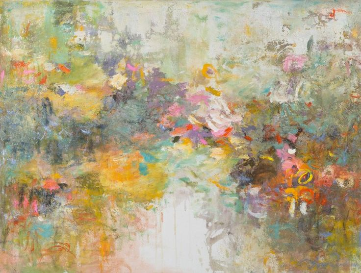 Original Abstract Art, Oil Painting, In Love With You, 2016, Oil on Canvas, 30 x 40 in.