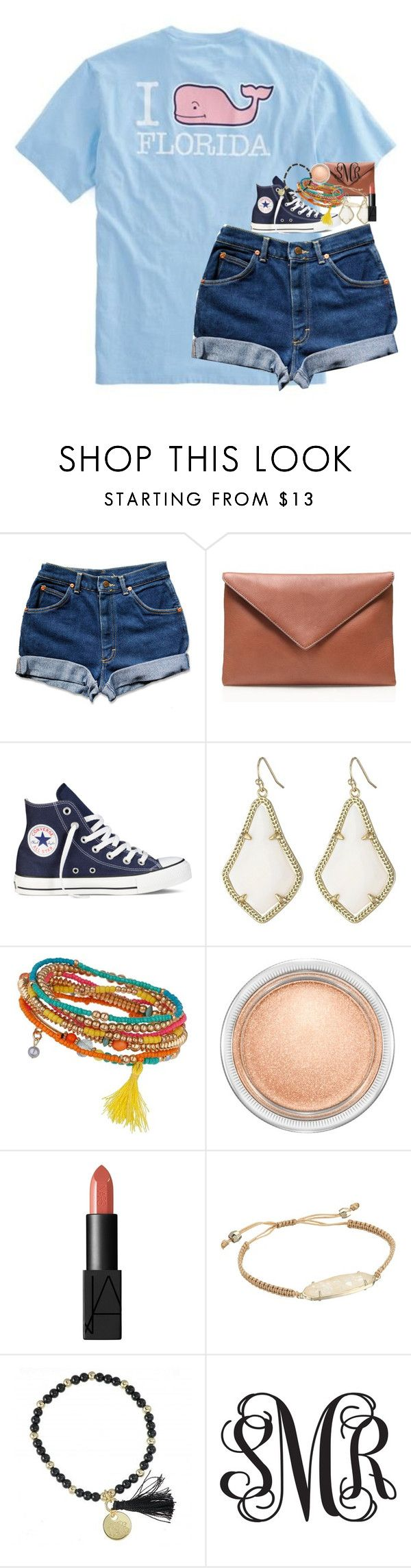 """""""this shirt would be perfect for the beach ☀️"""" by classynsouthern ❤ liked on Polyvore featuring Vineyard Vines, J.Crew, Converse, Kendra Scott, Miss Selfridge, MAC Cosmetics and NARS Cosmetics"""