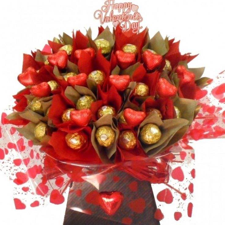 How To Make Chocolate Flower Basket : Ideas about candy bouquet on birthday