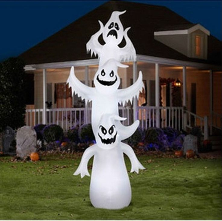 12 39 airblown inflatable giant ghost halloween decoration for Air blown decoration