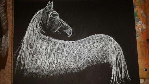 Horse white charcoal