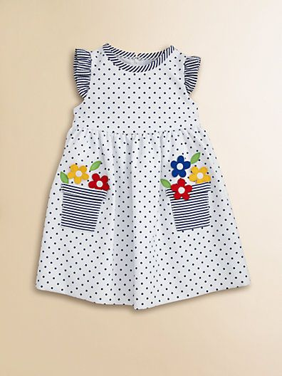 I can copy this! Back also pinned. Florence Eiseman - Toddler's Dotted Flower Pot Dress - Saks.com