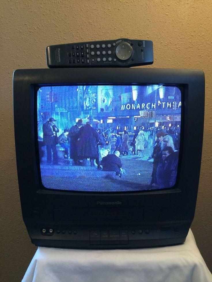 "Panasonic 13"" CRT TV VCR Combo Unit Black PV-M1368 VHS Player Includes Remote #Panasonic"