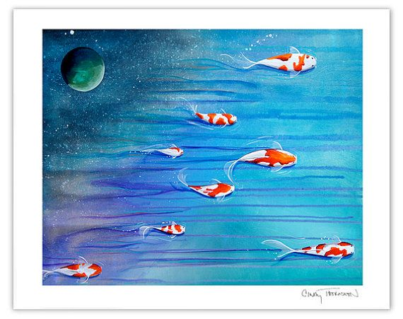 30 best cindy thornton art love these images on for Koi pool thornton