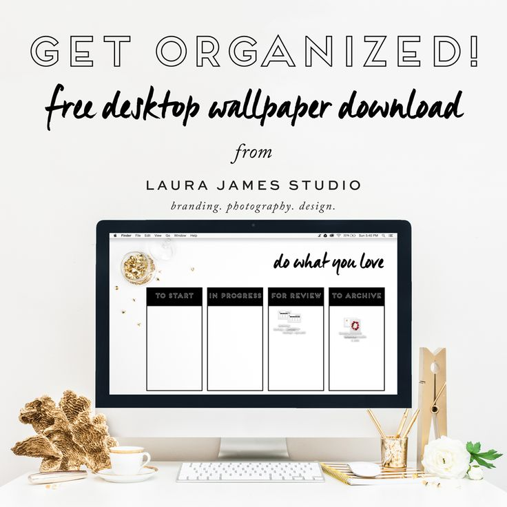 Take Control of that Desktop Clutter! FREE desktop wallpaper for organizing your files. do what you love <3