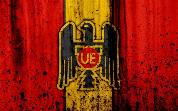 Download wallpapers 4k, FC Union Espanola, art, grunge, Chilean Primera Division, soccer, football club, Chile, Union Espanola, logo, stone texture, Union Espanola FC