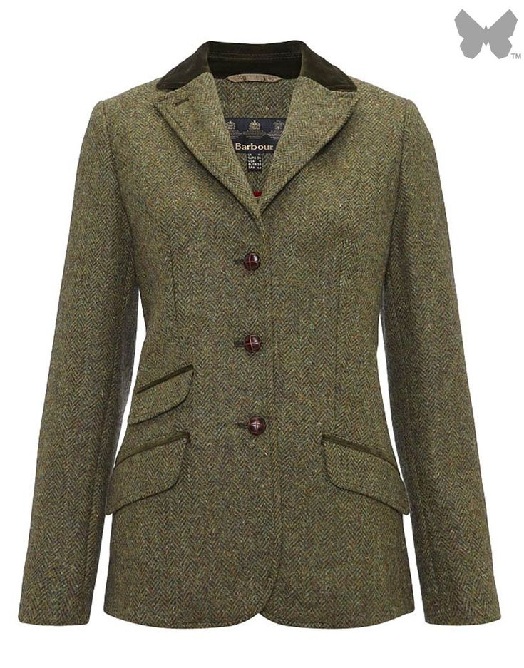 Barbour Ladies' Harling Herringbone Blazer – Olive Herringbone LTA0079OL51 - WOMEN | Country Attire