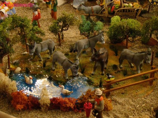 Une jolie scène avecdes ânes de Bernard Sauvat