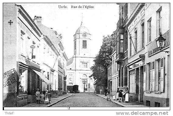 Uccle 65: Rue de l'Eglise + pub Plombier Zingueur