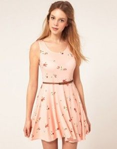 Vestidos rosas floreados 4