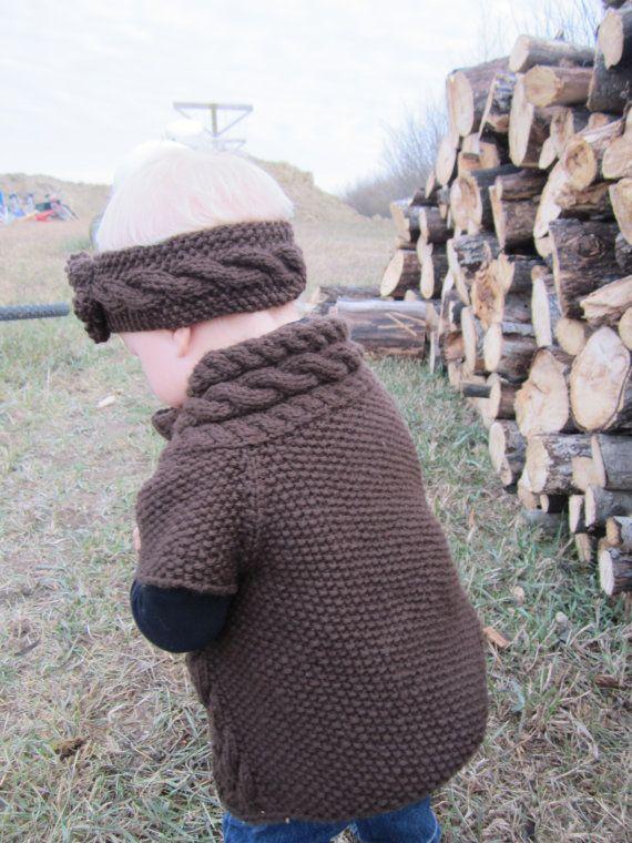 KNITTING PATTERN Baby Cardigan Knit pattern by KnotEnufKnitting