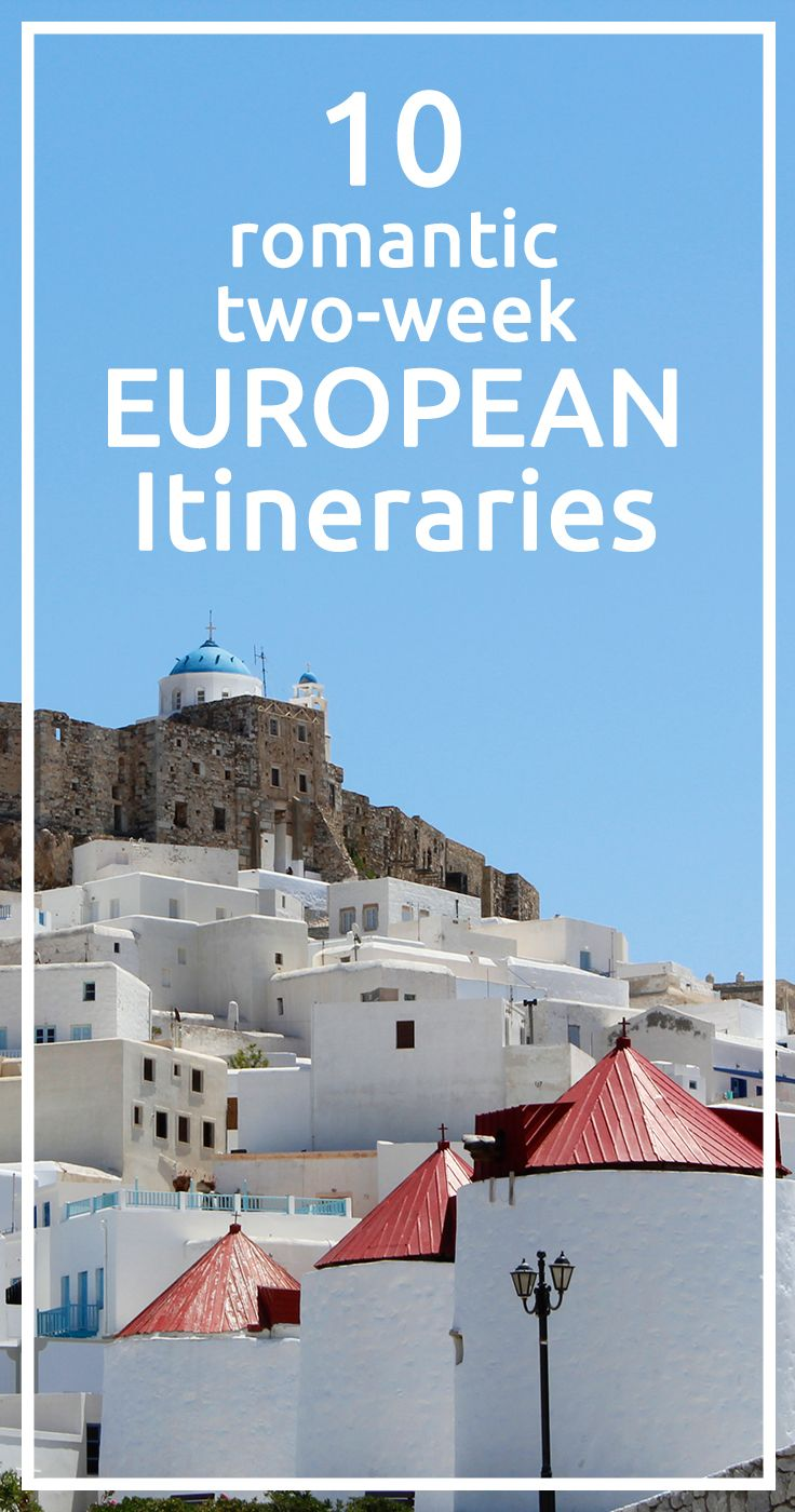 Romantic itineraries around Europe
