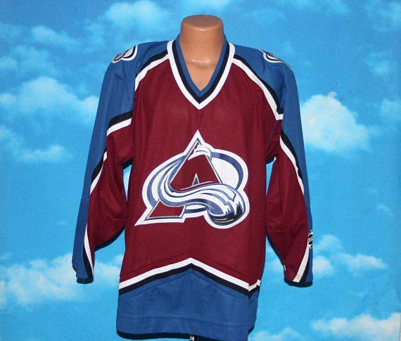 Colorado Avalanche Koho NHL Hockey Jersey Medium Vintage 1990s by nodemo