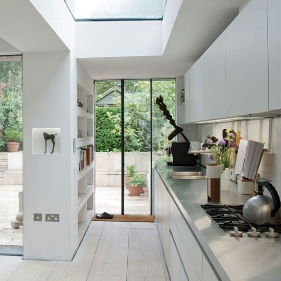 Built in wall shelving - between snug and kitchen to disguise supporting pillar?